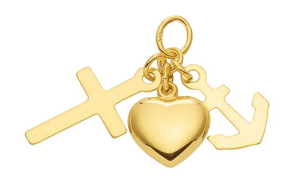 Geloof-Hoop-en-Liefde hangertje goud