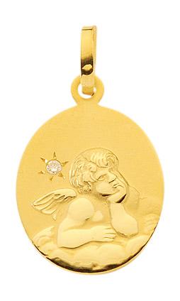 Amor gouden medaille met diamant