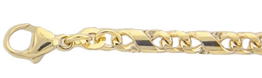 fantasie armband goud