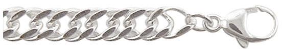 dubbel gourmet armband zilver