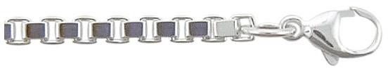 vierkant venetiaans armbanden zilver