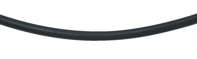 collier rubber zilver met bajonetsluiting
