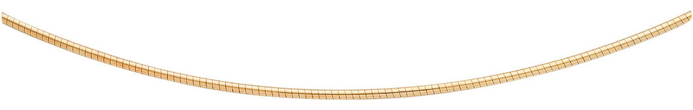 rond omega collier wit goud