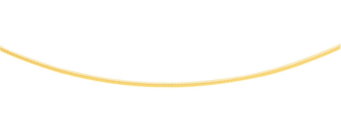 rond omega gouden collier zilver