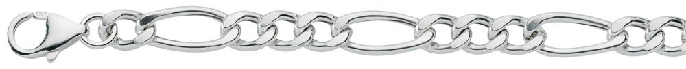 figaro armband zilver
