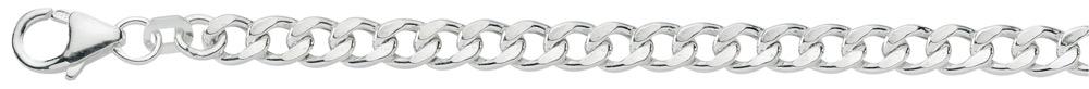 plat gourmet armband zilver
