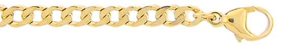 armband plat gourmet goud