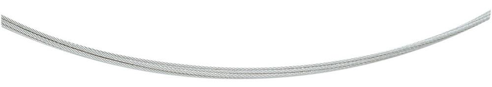 collier staal, 0,6 mm, 5-rijig, met 925 bajonetsluiting