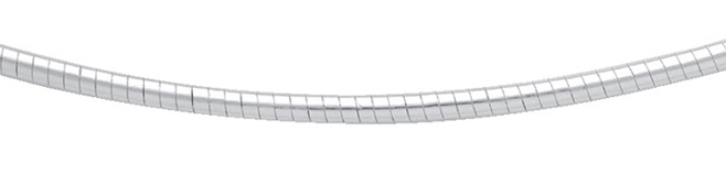 rond omega collier zilver