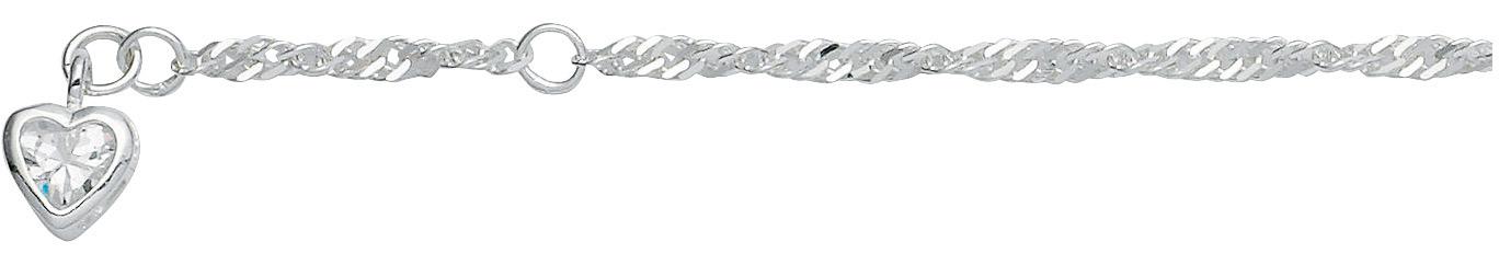 enkelband singapore zilver met zirkonia