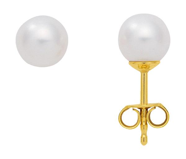 goud oorstekers met gekweekte parel