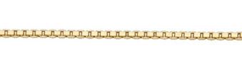 vierkant venetiaans collier goud