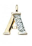 letterhanger goud met diamant