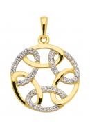 hanger gerhodineerd goud