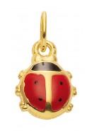 hanger lieveheersbeestje goud