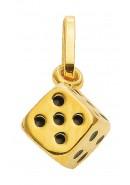 hanger dobbelsteen goud
