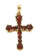 gouden kruis hanger met granaat