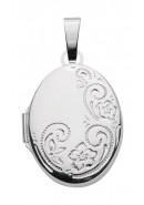 medallion ovaal zilver