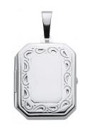 medallion langwerpig zilver