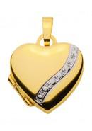 medallion hartje goud