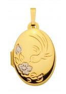 medallion ovaal goud