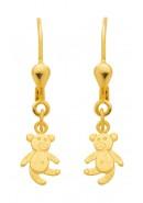beer oorhangers goud
