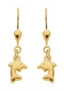 dolfijn oorhangers goud