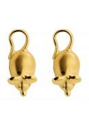 muis oorbellen goud